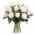 Bouquet 12 Roses Blanches