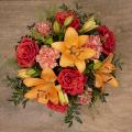 Tahitian Dream: Orange Lilies and Roses