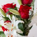 Perfect Pair: Roses and Lilies