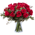 Amore infinito: 24 rose rosse