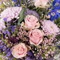 Fable Sauvage: Roses Roses et Delphiniums