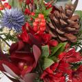 Jolly Holly: Eryngium and Alstroemerias