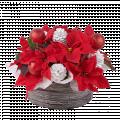 Sparkling Christmas: Poinsettia Basket