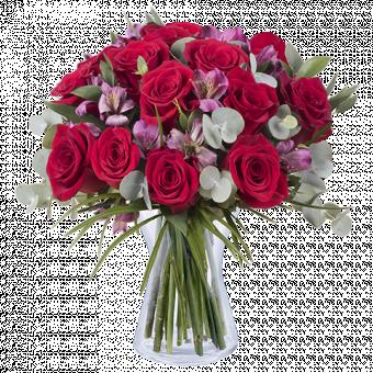 Charme e Passione: Rose e Alstromerie