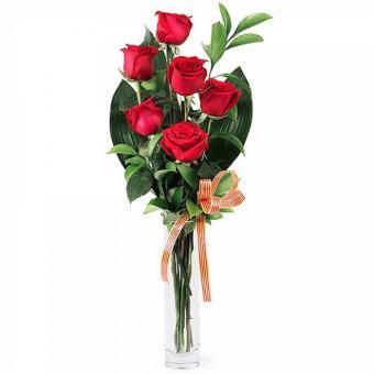 Sant Jordi Apasionado: Seis rosas rojas