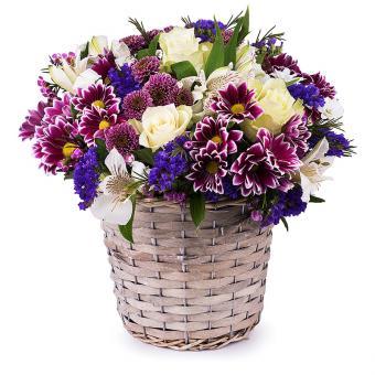 Kosz Uczuć: sezonowe róże i kwiaty
