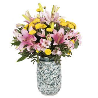 Солнечные брызги: лилии и хризантемы