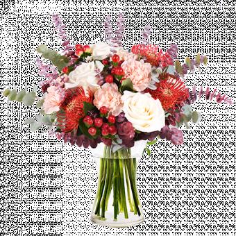 Feliz otoño: rosas y protea