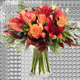 Осенняя роскошь: лилии и розы