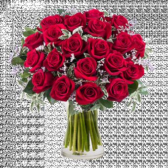 Królowa Serc: 20 Czerwonych Róż