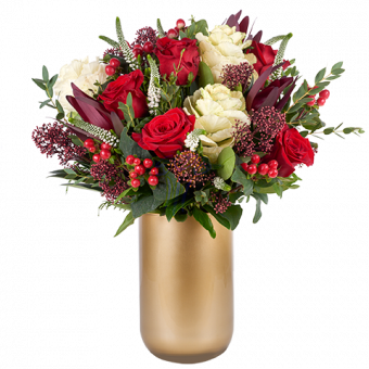 Joie: Roses Rouges et Brassicas