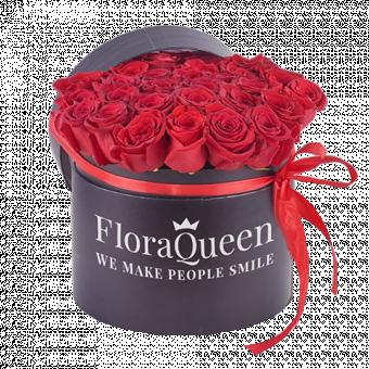 Queen of Love: Caja 40 Rosas Rojas
