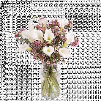 Vintage: calas y flor de cera
