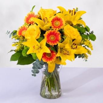 Lumière : Roses, Lys et Gerberas