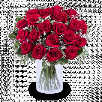 Königin der Herzen: 20 Rote Rosen