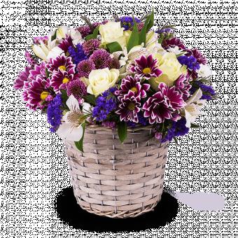 Wild Basket: Roses & Seasonal Flowers
