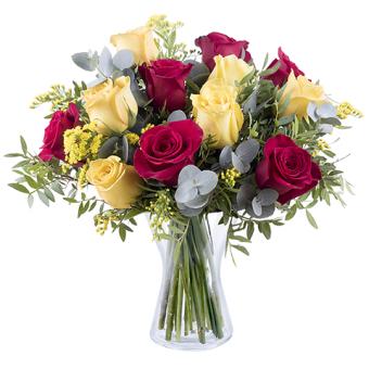 Flamenko: Gelbe und Rote Rosen