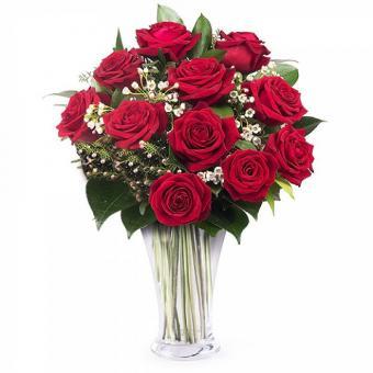 Traditionelle Liebe: Strauß 11 roter Rosen