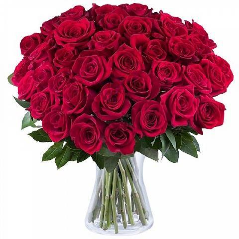Francuski Pocałunek: 40 czerwonych Róż