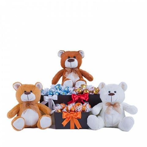 Assorted Chocolates and Three Teddies