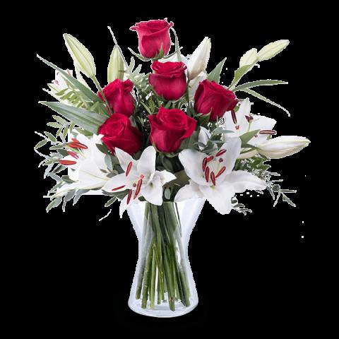 Magia miłości: róże i lilie