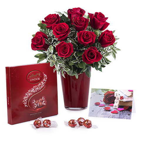 Amour Sans Limite : Assortiment de Roses Rouges