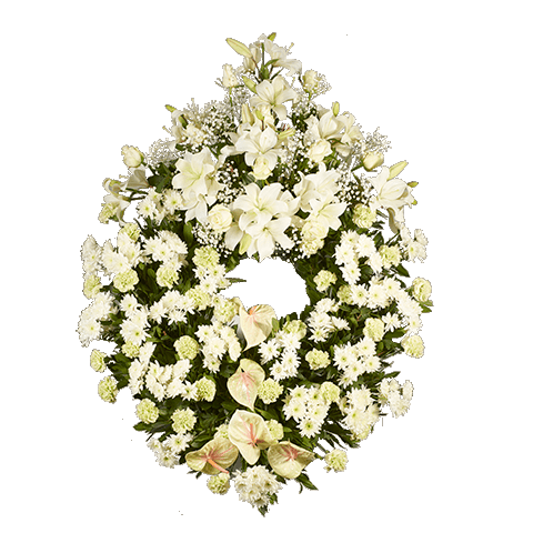 Big White Funeral Wreath