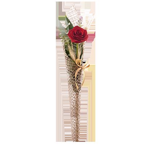 Rosa de Sant Jordi con red de rafia