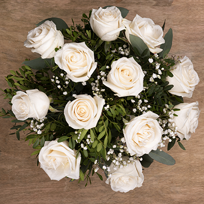 Bouquet 12 Rose Bianche