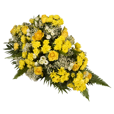 Gelbe Rosen Arrangement