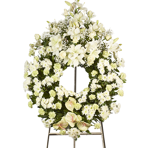 Big White Funeral Wreath