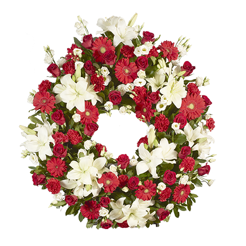 Big Red Funeral Wreath