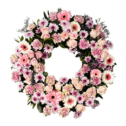 Różowe róże Wianek różowy