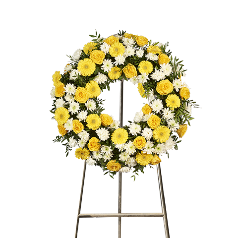 Yellow Roses Wreath