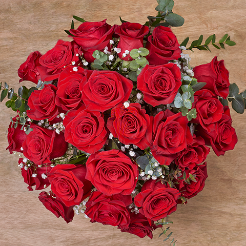 Amour Grand Luxe : 24 Roses Rouges