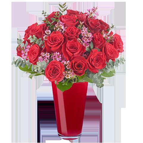 Parfum Amoureux : 20 Roses Rouges