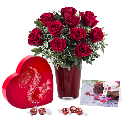 Unconditional Love: Complete Pack of Red Roses