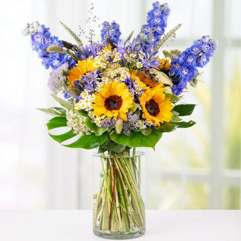 Summer Inspiration: Delphiniums and Sunflowers