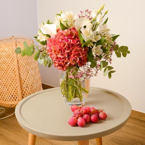 Friandises : Hortensias Roses et Callas