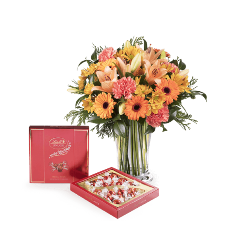 Sweet Birthday: Lilies and Gerberas