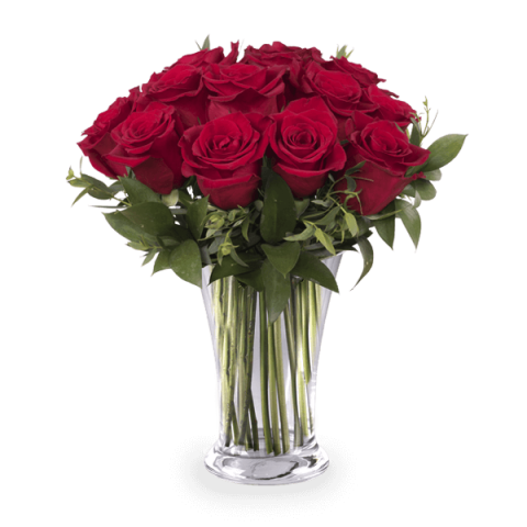 Delicate Passion: 12 Red Roses