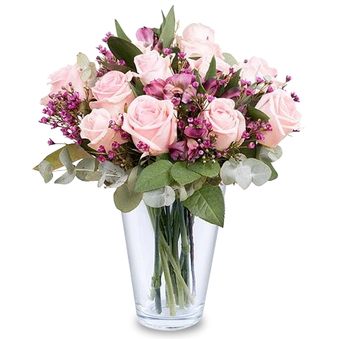 Poupée de Cire : Roses et Alstromerias