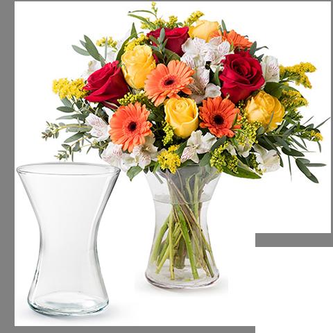 Gesundheit und Glück: Gerbera und Rosen