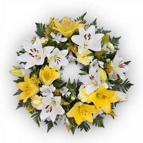 Yellow Wreath 60 cm