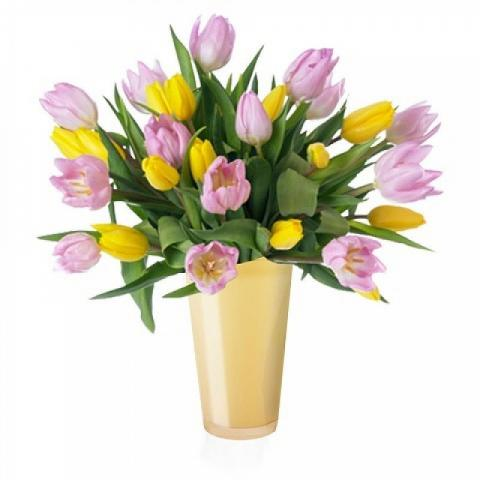 Spring Party: Pink and Yellow Tulips